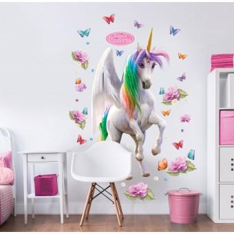 Magiske Enhjørninger / Magical Unicorn Kæmpe Figur Wallsticker