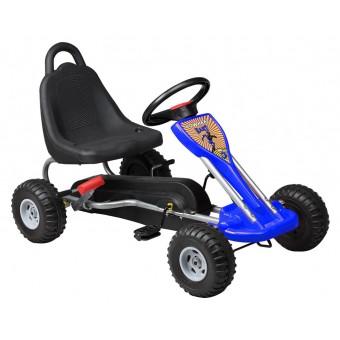 MegaLeg Pedal GoKart til børn 3-5 år, blå