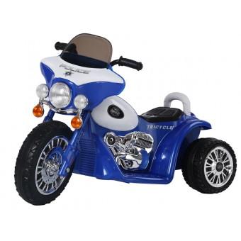EL Politi Motorcykel til Børn, Blå