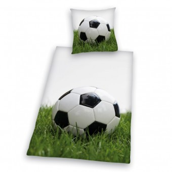 Fodbold Sengetøj - 100 procent Bomuld