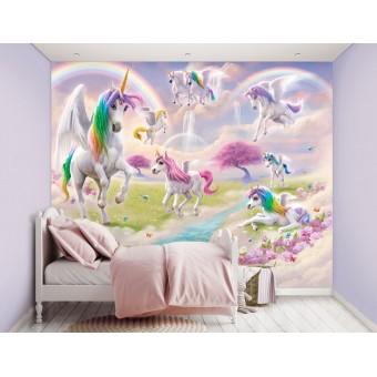 Magiske Enhjørninger / Magical Unicorns tapet 243 x 305 cm