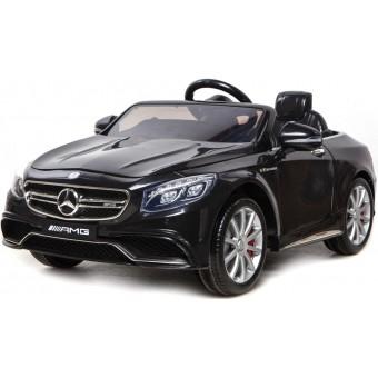 Mercedes S63 AMG til Børn 12V m/2.4G fjernbetjening og Gummihjul Sort