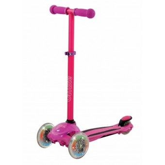 U Move Mini FLEX LED Løbehjul, Pink / Lilla