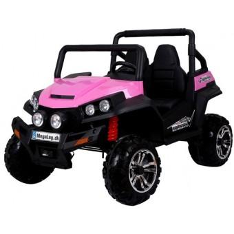 MegaBuggy 24V Pink m/2x200W Motor + Gummihjul