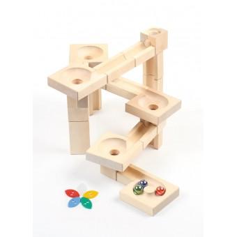 VARIS Marmor Træ Kuglebane Fix&Lock Twister