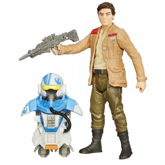 Star Wars Poe Dameron figur Armour Pack 9,5cm