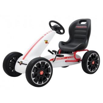 Abarth Pedal GoKart til børn 3-8 år, Hvid