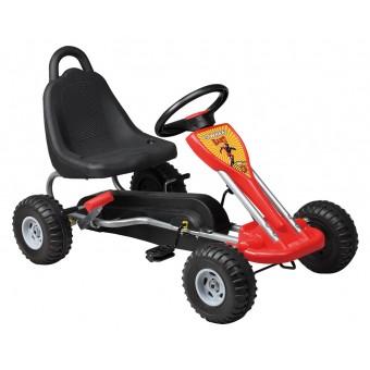 MegaLeg Pedal GoKart til børn 3-5 år, Rød