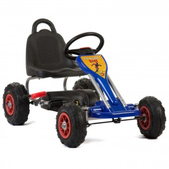 MegaLeg Pedal GoKart Air til børn 3-5 år, blå