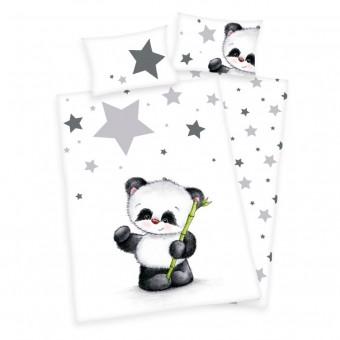 Panda Junior Sengetøj 100x135 cm - 100 procent bomuld