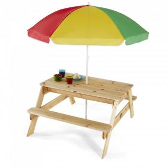 Plum Træ Børne Havebord med parasol