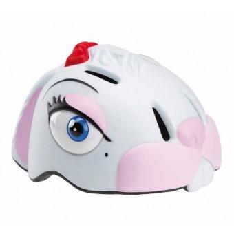Sport1 'White Bunny' Hvid Kanin cykel / løbehjul hjelm