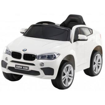 BMW X6 M elbil til børn 12v Hvid m/2.4G Remote