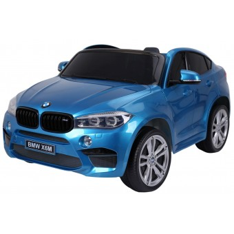 BMW X6 M 12v XXL Blå-Lakering m/Gummihjul + 2.4G + 10AH