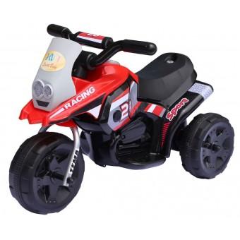 Racing Sport EL Motorcykel til børn 6V, Rød