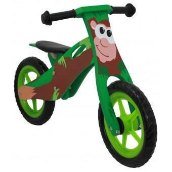 Løbecykel ABE i træ med rigtige lufthjul