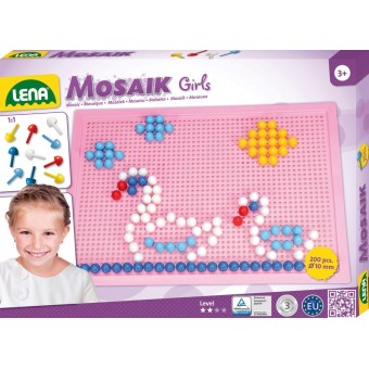 Lena Mosaic Perlesæt 200 stk. 10mm, Pink