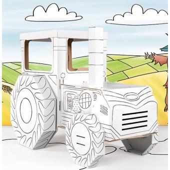 Pap Traktor til at farvelægge (Mal selv)