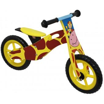 Løbecykel Giraf i træ med rigtige lufthjul