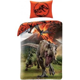 Jurassic World Sengetøj 2i1 Design - 100 Procent Bomuld