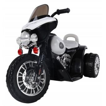 EL Politi Motorcykel til Børn, Sort