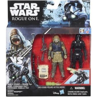 Star Wars R1 Twin Rebel Commando Pao & Death Trooper figurer 9,5cm