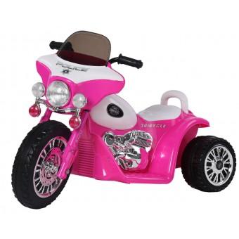 EL Politi Motorcykel til Børn, Pink