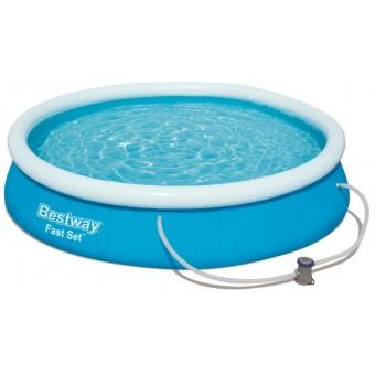 Bestway Fast Set Pool Sæt 366 x 76cm M/FILTER PUMPE