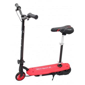 MCU-Sport EL-Løbehjul med sæde - Rød 120W 24V