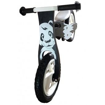 Løbecykel Panda i træ med rigtige lufthjul