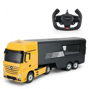 Mercedes-Benz Actros Fjernstyret Lastbil med container 2.4G Gul