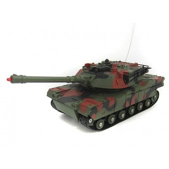 Fjernstyret IR 27MHz Battle Tank, Grøn