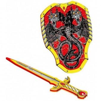 Dragon Knight skum sværd + Skjold
