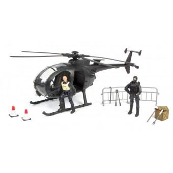 S.W.A.T. Redningshelikopter inkl. tilbehør og 2 figurer 1:18