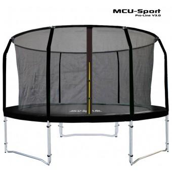 MCU-Sport Pro-line 3,05m Sort Trampolin V3.0 + Pro sikkerhedsnet