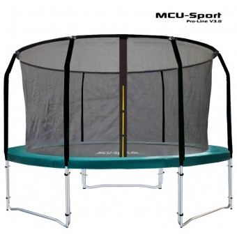 MCU-Sport Pro-line 3,05m Grøn Trampolin V3.0 + Pro sikkerhedsnet