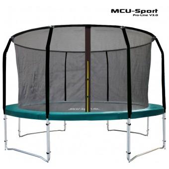 MCU-Sport Pro-line 3,7m Grøn Trampolin V3.0 + Pro sikkerhedsnet