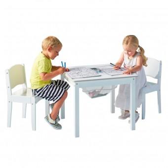 Worlds Apart Hvidt bord med stole