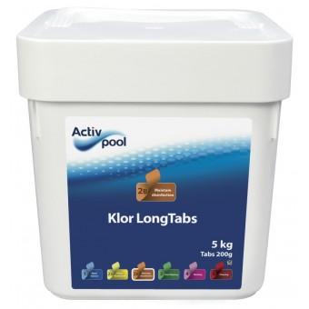 ActivPool Klor LongTabs 200g 5kg, Langsomklor