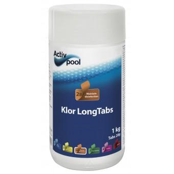 ActivPool Klor LongTabs 20g 1kg, Langsomklor tabletter