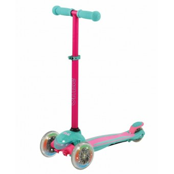 U Move Mini Compact LED Løbehjul, Pink / Teal
