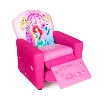 Disney Prinsesse Polstret Lænestol m/indbygget fodskammel