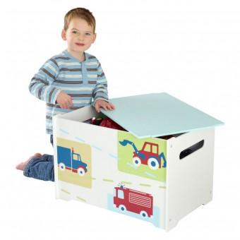 Worlds Apart Legetøjs Box med køretøjer