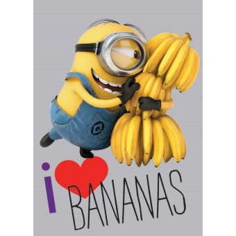 Grusomme Mig Minions gulvtæppe til børn - Love Bananas 133x95