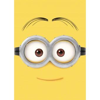 Grusomme Mig Minions gulvtæppe til børn - Googlehead 133x95