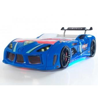 Speed Tuning 4WD Bilseng med Komplet LED-Lys og Lydpakke, Blå