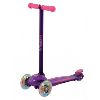 U Move Mini LED Løbehjul, Lilla / Pink