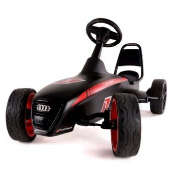 Audi Motorsport Go-Kart m/lavprofil dæk 4 - 12 år